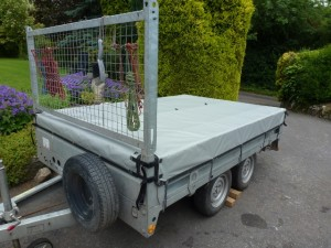 Bespoke box trailer cover in PVC
