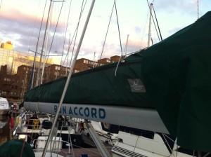 Yacht Mainsail Cover